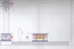 Projekt ołtarza i ambony